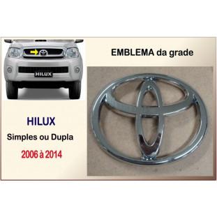 Emblema Grade Toyota Hilux 2006 à 2014