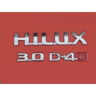 Emblema Hilux 3.0 D-4D Kit 3 Cromado Toyota 2005 em Diante