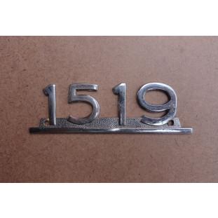 Emblema Lateral Caminhão Mercedes 1519 Original Usado