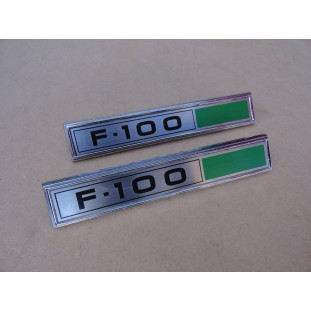 Emblema Lateral F-100 1980 a 1982 Reprodução Nova - Par
