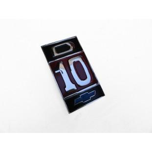 Emblema Lateral Paralama D-10 Original Usado Pintura Nova