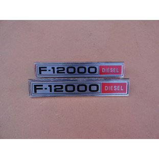 Emblema Lateral F-12000 Diesel 1980 a 1982 Reprodução - Par