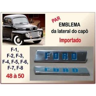 Emblema Ford F-1 48 à 50 Original - Par