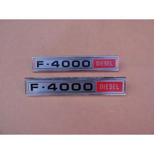 Emblema Lateral F-4000 Diesel 1980 a 1982 Reprodução - Par