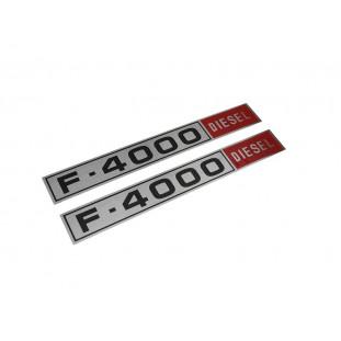 Chapinha Emblema Lateral Logo F-4000 Diesel 80 a 82 Nova Par
