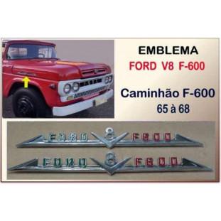 Emblema Ford V8 F-600 65 à 68 Original - Par