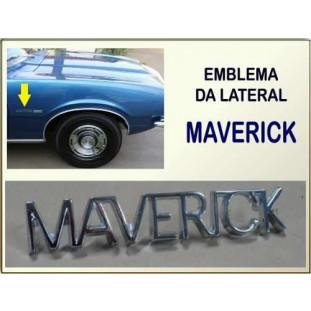 Emblema Lateral Maverick Fixação Pino