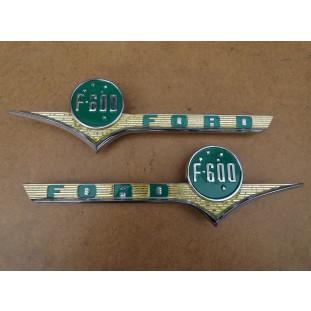 Emblema Lateral F-600 58 à 61 Original Usado - Par