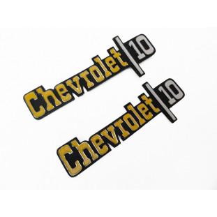 Emblema Lateral Paralama Chevrolet 10 Americano Usado Par
