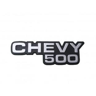 Emblema Lateral Paralama Dianteiro Chevy 500 Prata Plástico Unitário