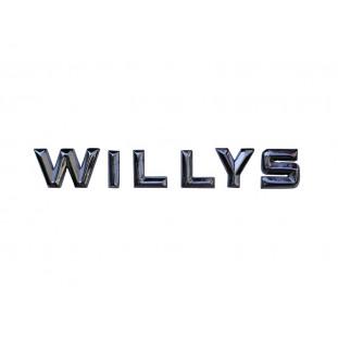 Emblema Letras Willys Traseiro Interlagos Cromado Novo Jogo