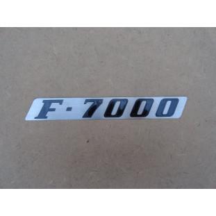 Emblema F-7000 do Emblema Lateral Direito Capô F-7000 1972 a 1979