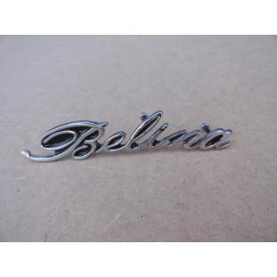 Emblema Manuscrito Belina I 1970 a 1977 Lateral Traseira