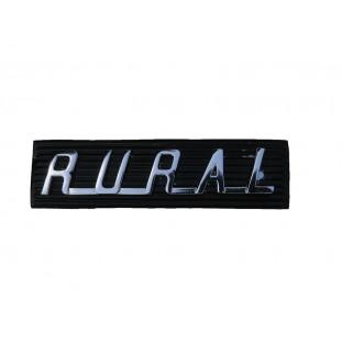 Emblema Rural da Grade Dianteira com Chapinha Suporte de Fixação - Par