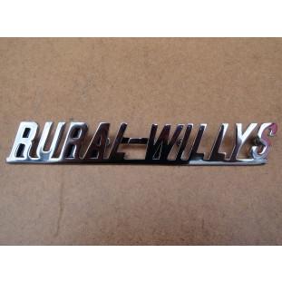 Emblema Rural Willys Lateral Capô Rural Bicudinha 58 à 59