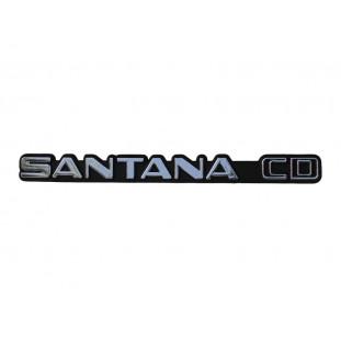 Emblema Santana CD do Painel Traseiro Santana CD até 1986 Novo Plástico