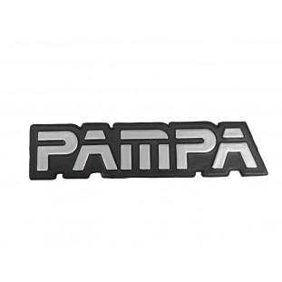 Emblema Letras Tampa Traseira Pampa após 1985 Prata Novo