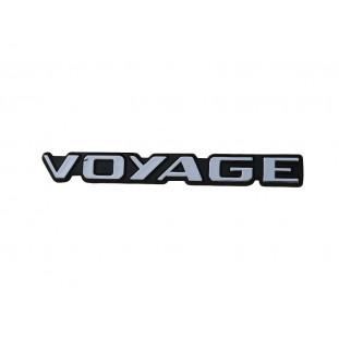 Emblema Voyage da Tampa Traseira Voyage Quadrado até 1990 Novo Plástico