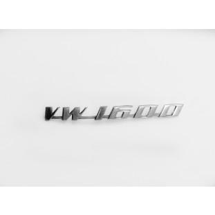 Emblema VW 1600 Variant TL Zé do Caixão Alumínio Original Usado