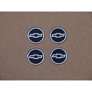 Emblema Calota Adesivo Chevrolet Resinado 48mm - Jogo