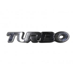 Emblema Turbo da Tampa Traseira Silverado ou S10 Cromado Original GM Novo