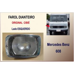 Farol Dianteiro Mercedes Benz 608 Original Esquerdo