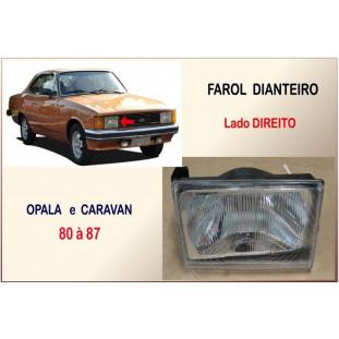 Farol Dianteiro Opala e Caravan 80 à 87 Direito Plástico