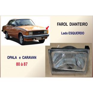 Farol Dianteiro Opala e Caravan 80 à 87 Esquerdo Plástico