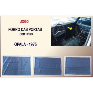 Forro Porta Opala 75 2 Portas Jogo com 6 Peças + Friso