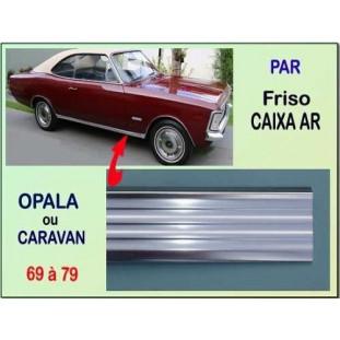 Friso Caixa Ar Opala Caravan 69 à 79 Alumínio Anodizado - Par