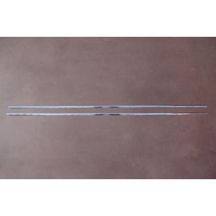 Friso da Caixa de Ar do Corcel I e Belina I Alumínio Anodizado Reto - Par