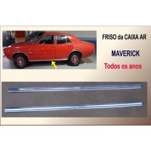 Friso Caixa Ar Maverick 4 Portas Alumínio Com Listras Pretas - Par