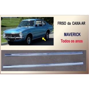 Friso Caixa Ar com Faixa Preta Maverick 2 Portas Alumínio - Par