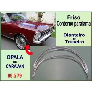 Friso Contorno Paralama Opala e Caravan 69 à 79 em Alumínio Anodizado - Jogo