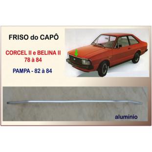 Friso do Capô Corcel II, Belina II e Pampa 78 à 84 Alumínio