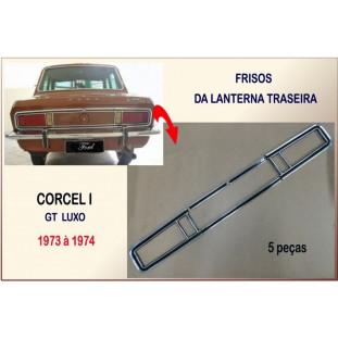 Friso do Contorno da Lanterna Traseira do Corcel I GT, Luxo 73 à 74 - Jogo