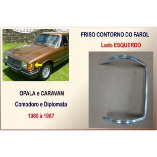 Friso Farol Dianteiro Opala e Caravan 80 à 87 Esquerdo