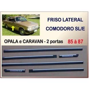 Friso Lateral Comodoro Opala e Caravan 85 à 87 2 Portas - Jogo