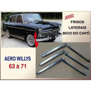 Friso Lateral Bico Paralama Aero Willys 63 à 71 - Jogo