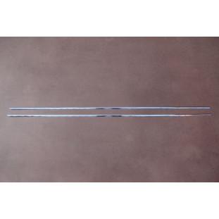 Frisos da Caixa de Ar Corcel I 2 Portas 71 à 72 em Alumínio Polido - Par