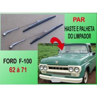 Haste e Palheta Limpador F-100 62 à 71 Importado - Par