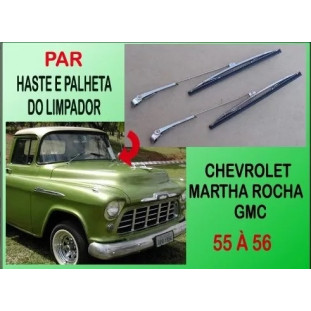 Haste e Palheta do Limpador Marta Rocha e GMC 1955 a 1959 Importada - Par