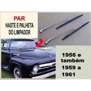 Haste e Palheta Limpador F-100 56 e também 59 a 61  - Par
