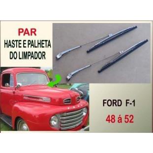 Haste e Palheta Limpador F-1 48 à 52 Importado - Par