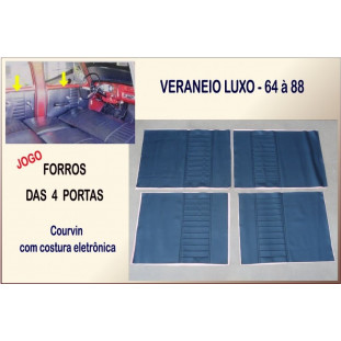 Forro Porta Veraneio Luxo 64 à 88 - Jogo