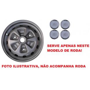 Calota Jogo Corcel II LDO e Belina II LDO Aro 13 Logo Ford - Jogo