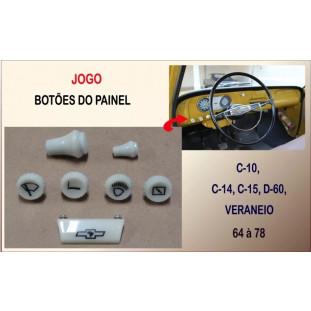 Botão do Painel C-10 C-14 C-15 D-60 Veraneio Marfim - Jogo