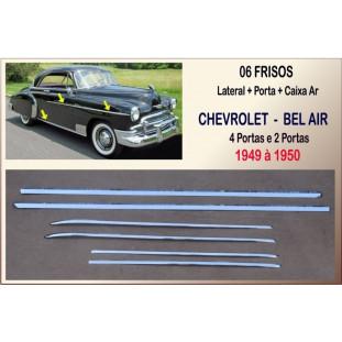 Friso Caixa +Lateral +Portal Chevrolet Bel Air 49 á 50 Inox Jogo Com 06
