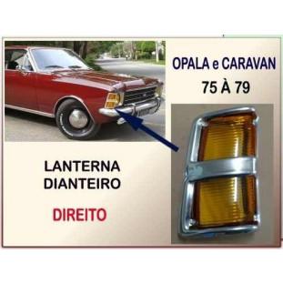 Lanterna Pisca Dianteiro Opala Caravan 75 à 79 Âmbar Direito