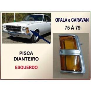 Lanterna Pisca Dianteiro Opala Caravan 75 à 79 Âmbar Esquerdo